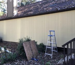 Fix rotten wood and set a new Hardieboard Siding 7