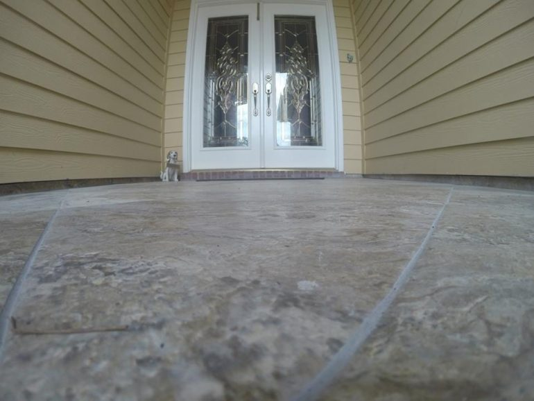 Tile Setting on Back proch and Front Porch 4
